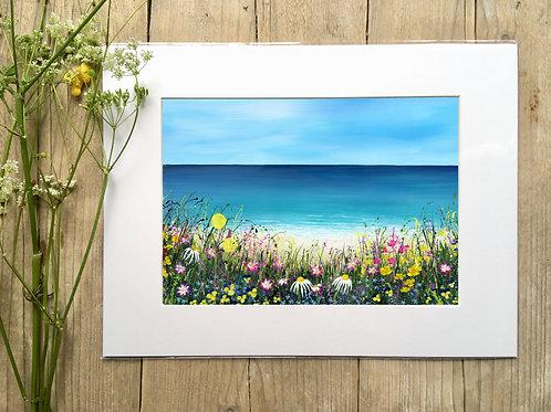 'Beach Meadow' print