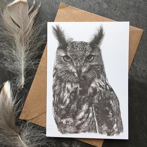 'Elsa' Eagle Owl A6 Greeting Card