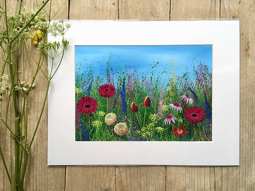 'Gerbera meadow' print