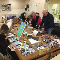 First of the Adults Art class