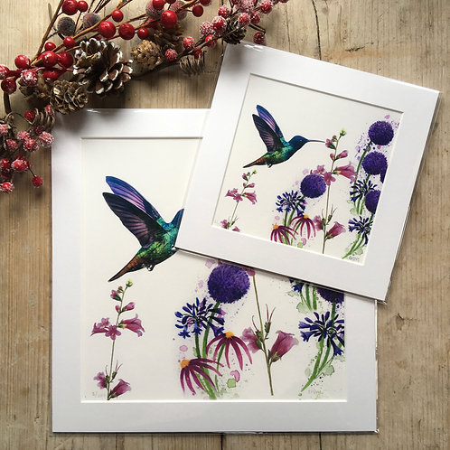 'Hummingbird Meadow' print