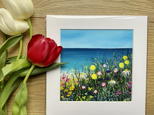 "Beach Meadow | 8"" x 8"" Print"