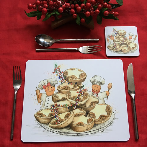 'Mince Pie' single placemat