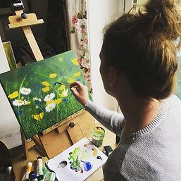 Claire in the Studio