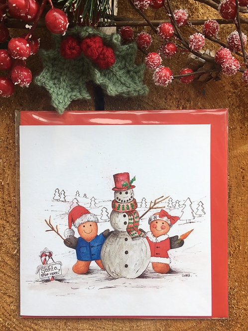 Christmas Card 'Snowman'
