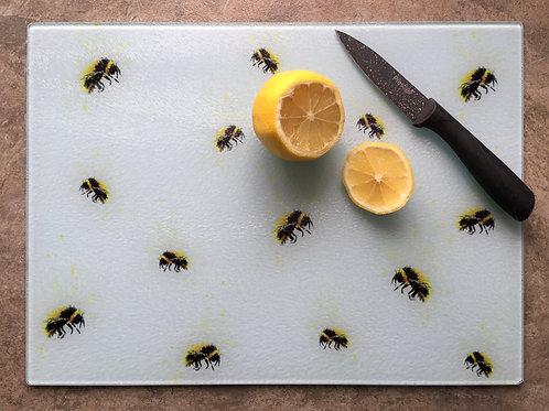 'Bumble Bees' | Chinchilla chopping board