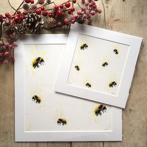 'Bumble Bees'print