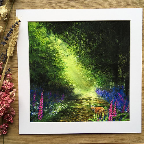 'Enchanted forest' print