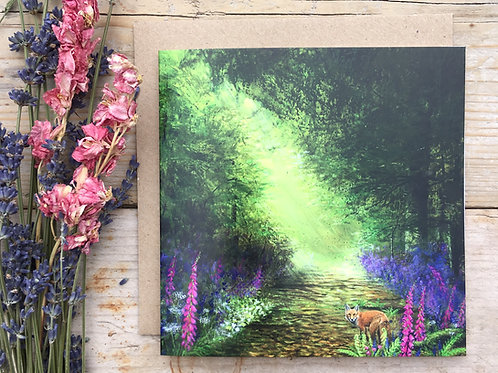 'Enchanted forest' greeting card