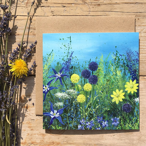 'Yellow Meadow' greeting card