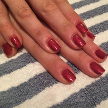 Express manicure using IBD Just Gel Polish