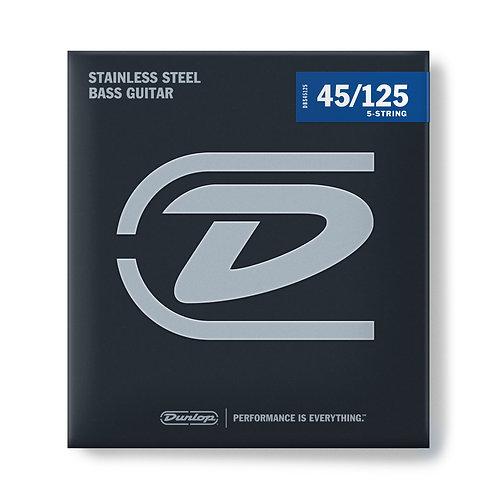 DUNLOP BASS STAINLESS STEEL MEDIUM 45-125 - DBS45125