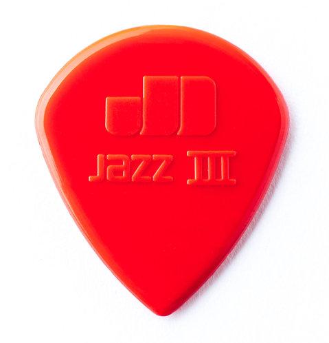 DUNLOP NYLON JAZZ III RED NYLON - DUNL47P3N