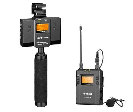 SARAMONIC UWMIC9 KIT12 UHF WIRELESS AND AUDIO MIXER MICROPHONE SYSTEM