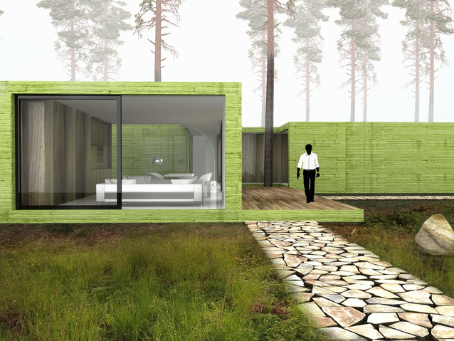 rodinný dům v lese