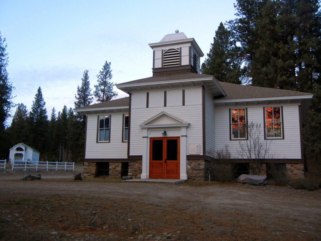 Stark School House with church.jpg