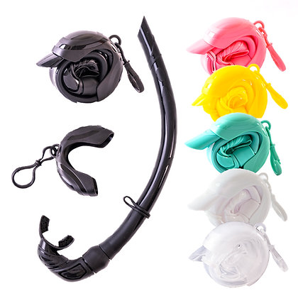 Rollable Snorkel with Casing for Freediving
