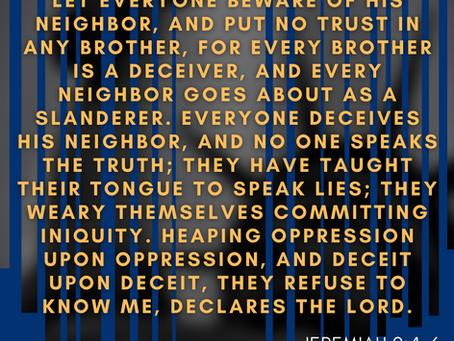 Noonday Prayer:  Our Nation & Lies, Falsehoods, & Half-Truths