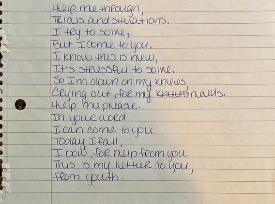 Letter to God From Youth