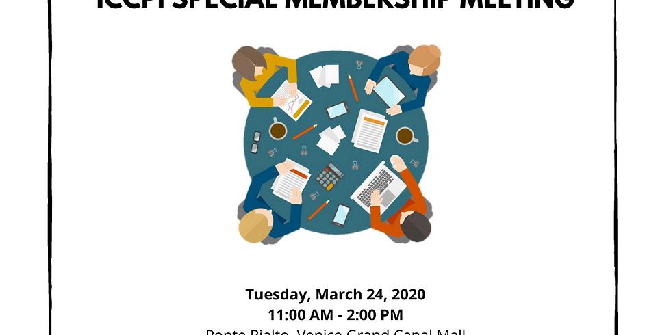 ICCPI Special Membership Meeting