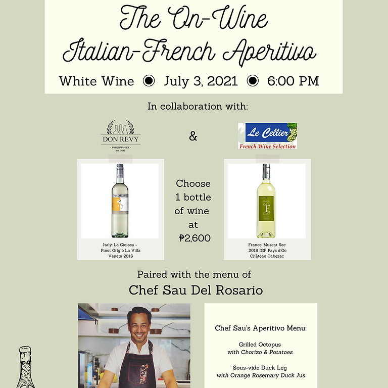 On-Wine Italian-French Aperitivo: White Wine