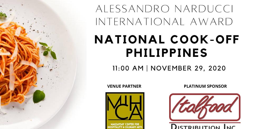 Alessandro Narducci International Award - National Cook-Off