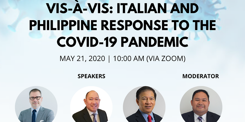 Vis-A-Vis: Italian and Philippine Response to the COVID-19 Pandemic