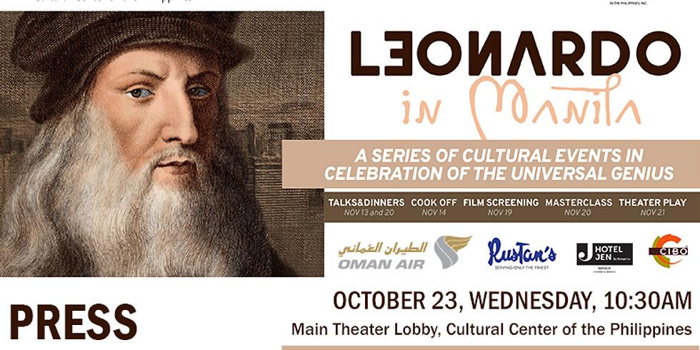 Press Conference of Leonardo in Manila