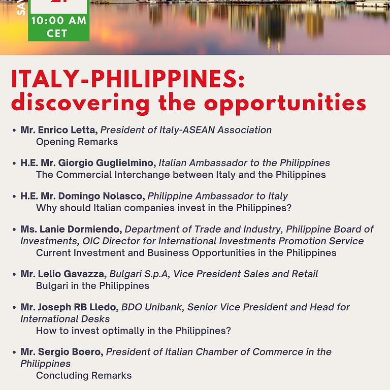 Italia-Filippine: alla scoperta delle opportunità