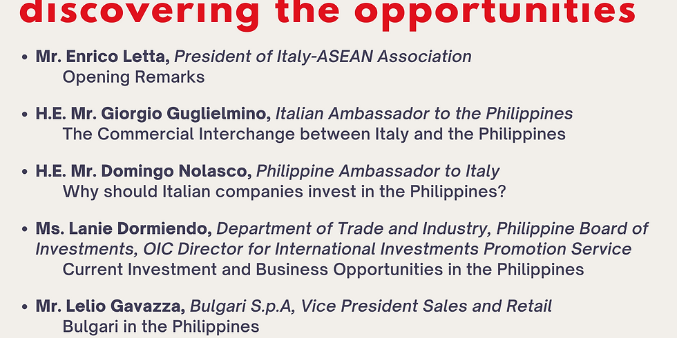 Italy-Philippines: Discovering the Opportunities