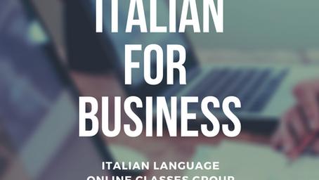 LEARN ITALIAN FOR BUSINESS!