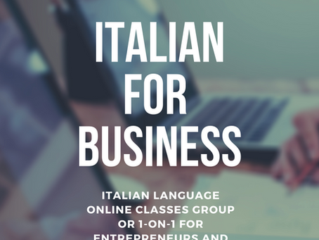 LEARN ITALIAN FOR BUSINESS!