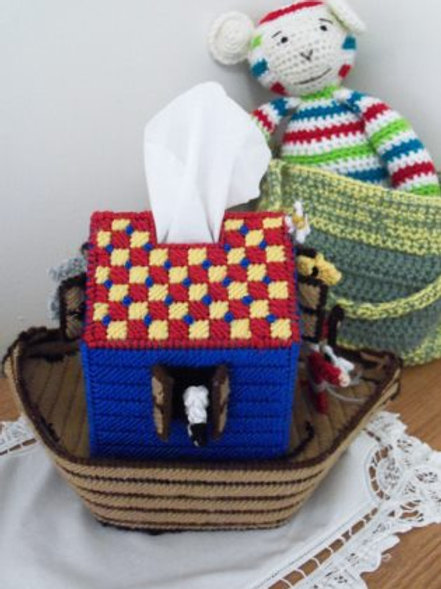 Noah's Ark Tissue Box Cover