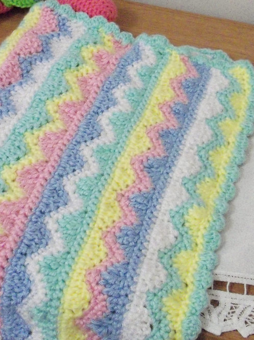 Car Seat Blanket - Mountains and Valleys