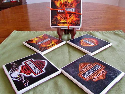 Harley Davidson Logos (Set of 4)