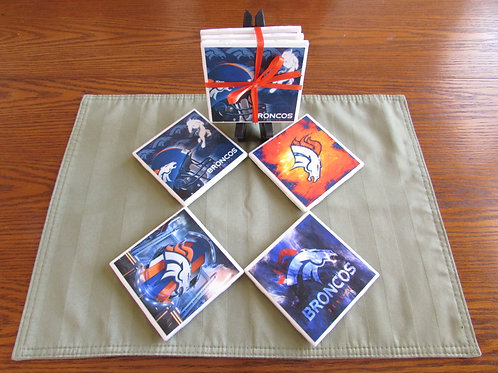 Denver Broncos Coaster Set