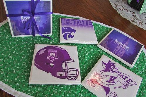 Kansas State Wildcats Coaster Set