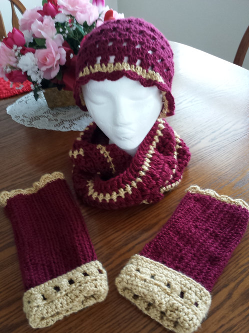 Infinity Scarf and Hand Warmer Set