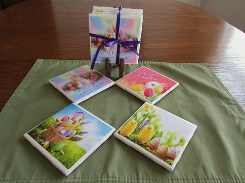 Happy Easter Coasters (Set of  4)