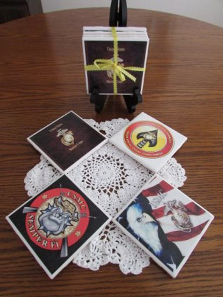 U. S.. Marine Corps Coasters Set