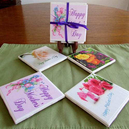 Happy Mother's Day Coasters (Set of  4)