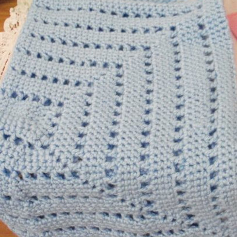 Car Seat Blanket - Blue