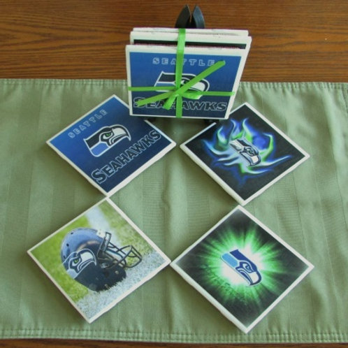 Seattle Seahawks Coaster Set