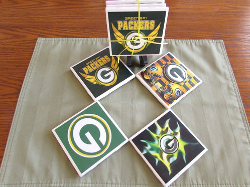 Greenbay Packers Coaster Set