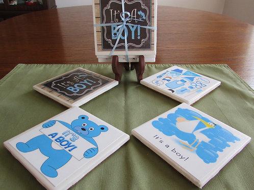 It's a Boy Coaster Set (Set of 4)
