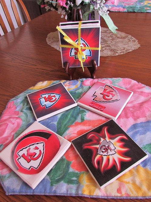 Kansas City Chiefs Coasters