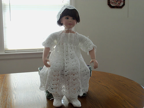 Christening Gown - Open Crescent