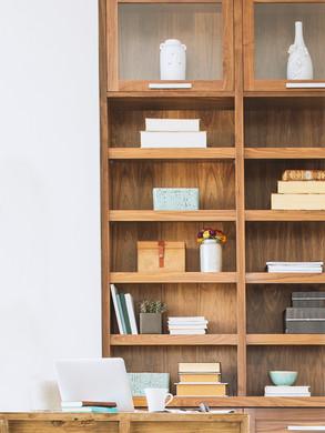 custom Wooden Book Shelves