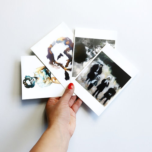 "4 Postcards ""Family Album II"""