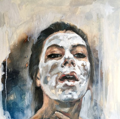 Selfportrait with Facemask and Fear of Disappearing